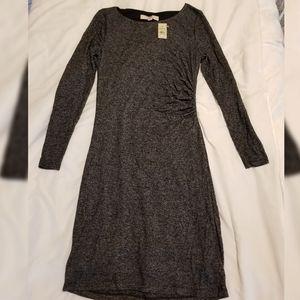 Loft Black and White Petite Sweater Dress